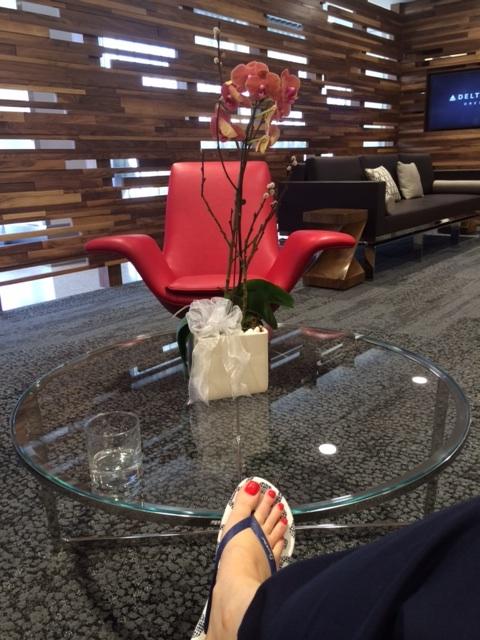 Fresh pedi in the lounge